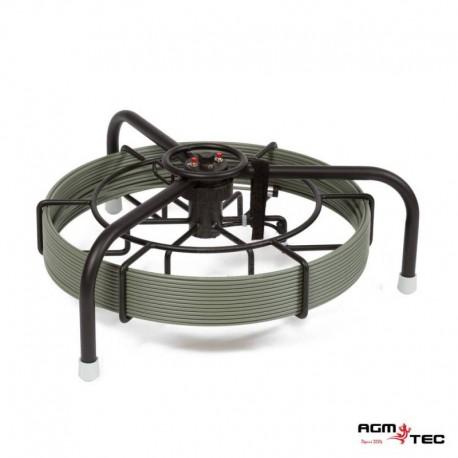 Carrete soporte trípode con odómetro y 40 metros cable guía